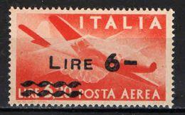 "ITALIA - 1947 - SERIE ""DEMOCRATICA"" - FILIGRANA RUOTA - 6 LIRE SU 3,20 - OVERPRINTED - MNH - 6. 1946-.. Republik"