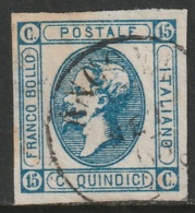 Italy Sc 23 Used - 1861-78 Vittorio Emanuele II