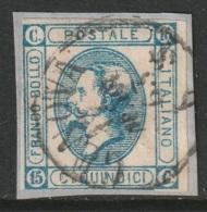 Italy Sc 23a Used Genova Cancel - 1861-78 Vittorio Emanuele II