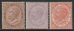Italy Sc 30,32,33 MLH/MNH - 1861-78 Vittorio Emanuele II