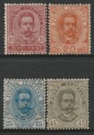 Italy Sc 68-71 Partial Set MNH Gum Mottled/toned - 1878-00 Umberto I