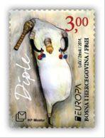 2014 EUROPA, Folk Musical Instruments, N° 380, Croat Post Mostar, Bosnia And Herzegovina, MNH - Bosnien-Herzegowina