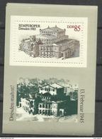 """DDR Bl.80 """"Wiedereröffnung Der Semperoper In Dresden"""" Postfrisch  Mi.-Preis 1,30 - Blokken"""