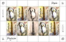 2014 EUROPA, Folk Musical Instruments, N° 380 And 381, Croat Post Mostar, Bosnia And Herzegovina, MNH - Bosnien-Herzegowina