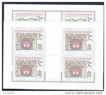 ** Tchécoslovaquie Mi Klb. 2418-9 (Yv 2251-2) Les Feuilles, (MNH) - Blocks & Sheetlets