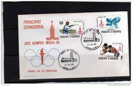 SOBRE  PRIMER  DIA  ANDORRE  ESPAÑOLA  AÑO  1980 - Andorra Española