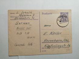Deutsche Postkarte 1946 MÜNCHEN - Autres