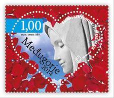 2014 Medjugorje, (heart-shaped Stamp With Rose Scent), N° 386, Croat Post Mostar, Bosnia And Herzegovina, MNH - Bosnien-Herzegowina