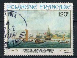 """TIMBRE De 1981 Oblitéré De POLYNESIE """"120 F - Pointe Vénus"""" - Oblitérés"""