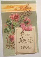 """""""Neujahr, Jahreszahl, Kalender, Kleeblatt, Schleife"""" 1902 ♥   - Neujahr"""