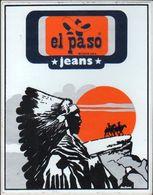 Stikers El Paso Jeans Wichita USA Native Americans Adesivo Indiani Autocollant Amérindiens FAS00008 - Vignettes Autocollantes