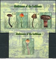 Grenada Carriacou & Petite Martinique 2011. Michel #4731/34+Bl.#655 MNH/Luxe. Plants. Mushrooms. (Ts19) - Grenada (1974-...)