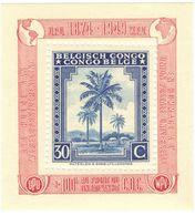 Belgisch Belgian Congo Belge 30 C Block Messages Overprint UPU (COB 3A) */** MVLH - Belgian Congo