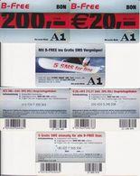 3/ Austria; A1, 3 Old Prepaid GSM Cards - Autriche