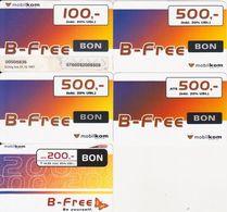 4/ Austria; Mobilkom, 5 Old Prepaid GSM Cards - Autriche