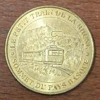 64 SARE LE PETIT TRAIN DE LA RHUNE MÉDAILLE TOURISTIQUE MONNAIE DE PARIS 2007 JETON MEDALS COINS TOKENS - 2007