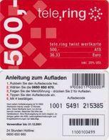 6/ Austria; Tele Ring, Old Prepaid GSM Card - Autriche