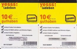 7/ Austria; Yesss, 2 Old Prepaid GSM Cards - Autriche