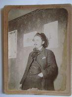Photo Ancienne Cartonnée - Jeune Homme Portant Bonnet - Type Artiste -  Jeune Peintre ?? A Voir  BE - Foto