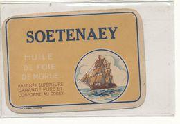 E T 854 /   - ETIQUETTE  HUILE DE FOIE DE MORUE  SOETENAEY - Labels
