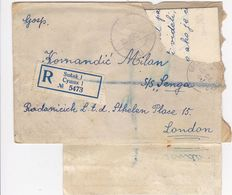 CROATIA   --  RECO BRIEF  --  SUSAK  --  SHIPS MAIL  --  MARINESSHIFFSPOST  --  SHIFF S / S  ,,  SENGA ,,    --  1945 - Kroatien
