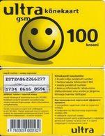 17/ Estonia; Ultra, Old Prepaid GSM Card - Estonia