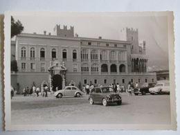 Photographie Vintage Datée 1963 - Automobiles Devant Le Palais Princier à Monaco - TBE - Automobili