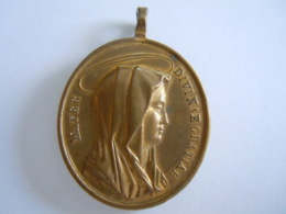 Medaille Ancienne Salvator Mundi Mater Divinae Gratiae Christus Christ Maria Madonna Marie Relief - Godsdienst & Esoterisme