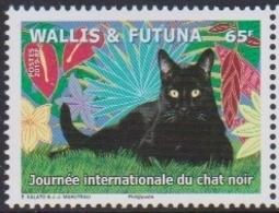 WALLIS ET FUTUNA, 2019, MNH, CAT, INTERNATIONAL DAY OF THE BLACK CAT, 1v - Gatos Domésticos