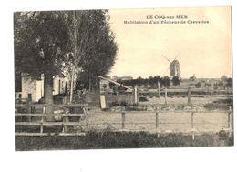 WW1 - Feldpost 1916 - BRIEFSTEMPEL Kommando -  LE COQ-sur-MER - Habitation D Un Pecheur De Crevettes - De Haan