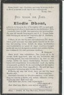 BP Dhont Elodie (Zingem 1875 - Oudenaarde 1919) - Collections