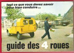 Prévention Routière La Poste PTT Guide Des 4 Roues Camionette Citroën 2CV Jaune P.T.T. Facteur En Service - Auto