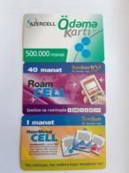 3 Recharge Phonecards Azerbaidjan - Azerbaïjan