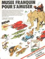 """PUB ALBUM  FRANQUIN """" SPIROU Et FANTASIO  """" """" L'HERITAGE  """"   1976 ( 1 ) - Objets Publicitaires"""