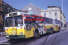 Reproduction D'une Photographie D'un Bus Man Bussing Ligne 49 Essen Avec Publicité Korall à Wuppertal En Allemagne 1973 - Reproducciones