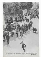 90  BELFORT FUNÉRAILLES  DE  L'AVIATEUR   PEGOUD 1915  ECRITE  BON ETAT  2 SCANS - Belfort - Ciudad