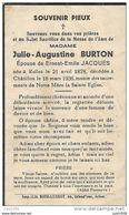 CHATILLON ..-- Mme Julie BURTON , épouse De Mr Ernest JACQUES , Née En 1878 à RULLES , Décédée En 1936 à CHATILLON . . - Saint-Léger