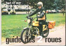 Prévention Routière La Poste PTT Guide Des 2 Roues Moto Honda 125  Jaune P.T.T. Facteur En Service - Moto