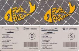 31/ Latvia; Zeta Zivtina, 2 Old Prepaid GSM Cards - Lettonie