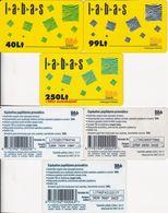 32/ Latvia; Bité, 3 Old Prepaid GSM Cards - Lettonie