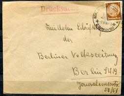 "German Empires 1936 Drucksachen Bedarfsbrief/Cover Mit Mi.Nr.513 EF Und Olympa SST""Berlin Olympiastadion""1 Beleg Used - Sommer 1936: Berlin"