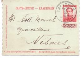 Belgique Carte-lettre N° 18 Oblitérée Treignes 1914 - Entiers Postaux