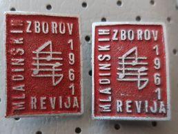 Choir Revija Mladinskih Pevskih Zborov 1961 Slovenia Ex Yugoslavia  Pins - Música