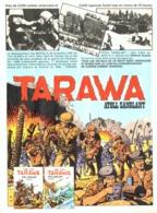 "PUB ALBUM  "" TARAWA "" "" ATOLL SANGLANT  ""   1975 ( 1 ) - Objets Publicitaires"