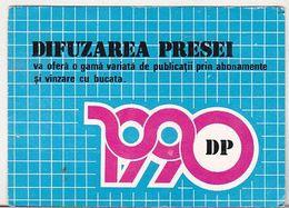 Romania Old 1990 Small Calendar - DP Difuzarea Presei - Petit Format : 1981-90