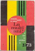 Romania Old 1973 Small Calendar - Calendars