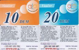 38/ Montenegro; ALo, 2 Old Prepaid GSM Cards - Montenegro