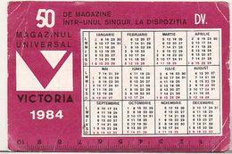 Romania Old 1984 Small Calendar - Petit Format : 1981-90
