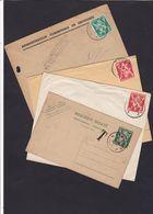 LION HERALDIQUE : LOT Documents Dont Taxe , Inconnu  De Dampremy , Grivegnee , Leuven Et Engis - Belgium