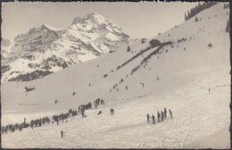 AK Adelboden Skigebiet Skifahrer, Gelaufen 1920 - BE Berne